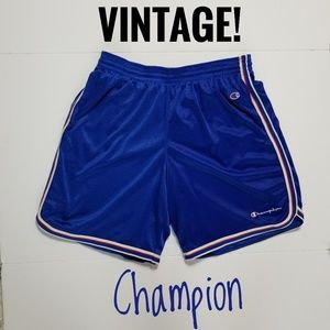XL BLUE VINTAGE CHAMPION SHORTS